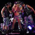 Britney Spears, sublime, lors de son concert Femme Fatale à Las Vegas, le 25 juin 2011.