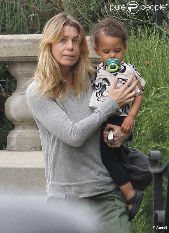 Ellen Pompeo à Los Angeles : même avec son adorable Stella Luna, elle n'a toujours pas le sourire le 18 juin 2011