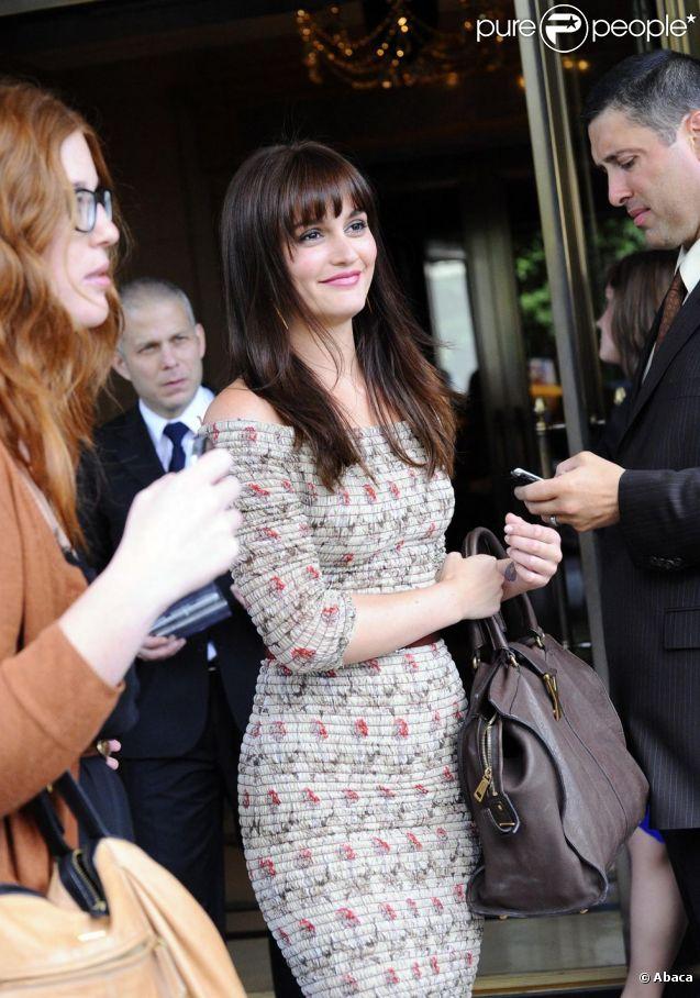 Leighton Meester avec son nouveau look. Le 29 juin 2011
