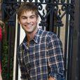 Chace Crawford sur le tournage de Gossip Girl, le 13 juillet 2011
