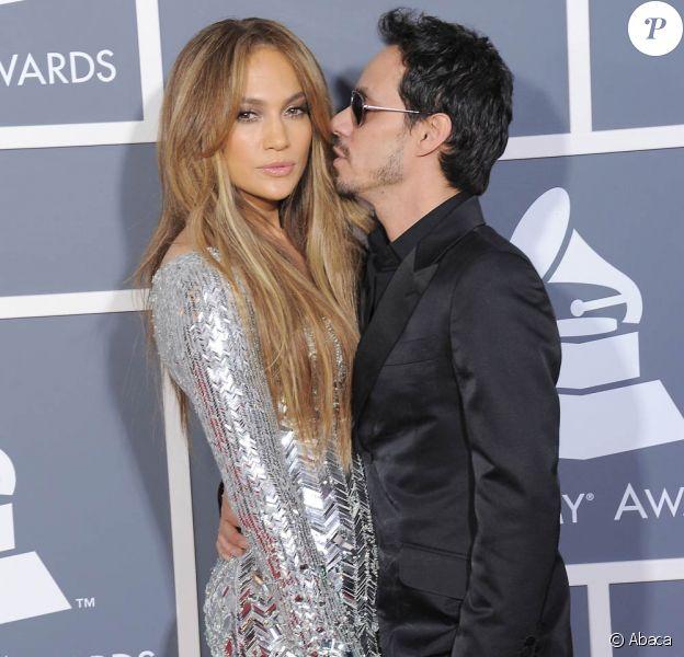 Marc Anthony et Jennifer Lopez le 13 février 2011.