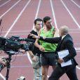 Les Français Mehdi Baala et Mahiedine Mekhissi en sont venus aux mains lors du meeting d'athéltisme de Monaco de la Ligue de Diamant le 22 juillet 2011