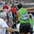 Les Français Mehdi Baala et Mahiedine Mekhissi en sont venus aux mains lors du meeting d'athlétisme comptant pour la Ligue de Diamant le 22 juillet 2011