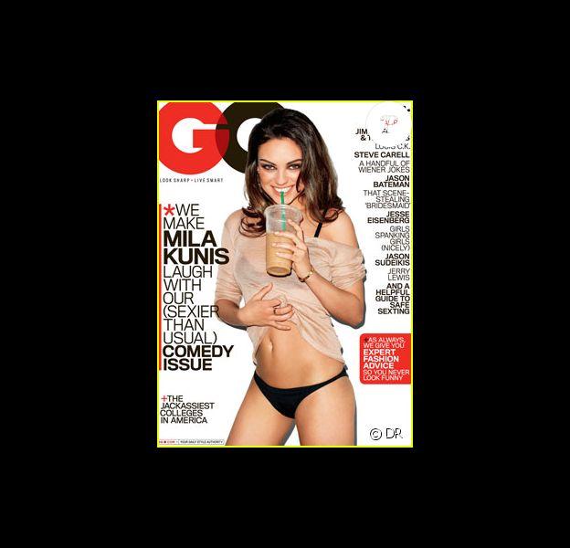 Mila Kunis en couverture du GQ américain d'août. L'été sera chaud !