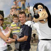 Thomas Voeckler comblé à Disneyland avec Julie, leur fils Mahé et leur bébé Lila