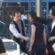 """""""Sophie Marceau et Gad Elmaleh sur le tournage d'Un bonheur n'arrive jamais seul, à Paris le 25 mai 2011"""""""