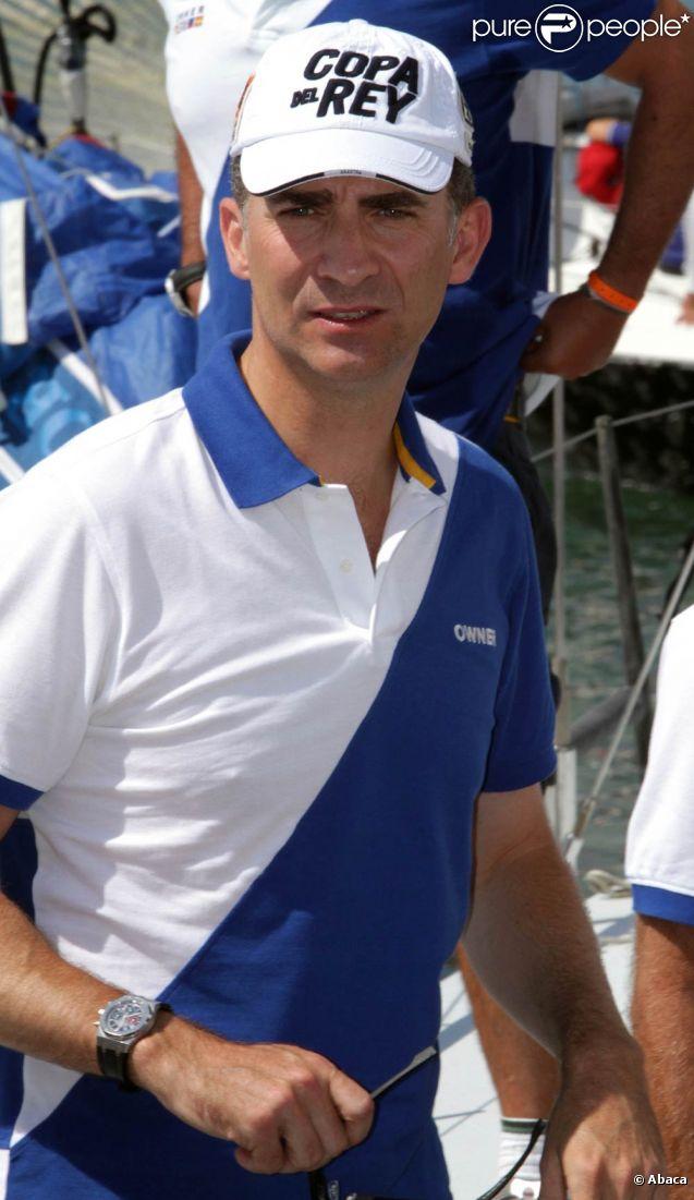 Felipe d'Espagne participe à la 30e édition de la Copa del Rey, à Majorque. 31 juillet 2011