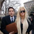 Anna Nicole Smith et Howard K. Stern à Washington, le 28 février 2006.
