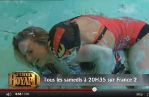 Aurélie Vaneck en plein combat de boue !