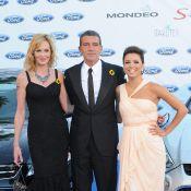 Eva Longoria radieuse auprès des amoureux Antonio Banderas et Melanie Griffith