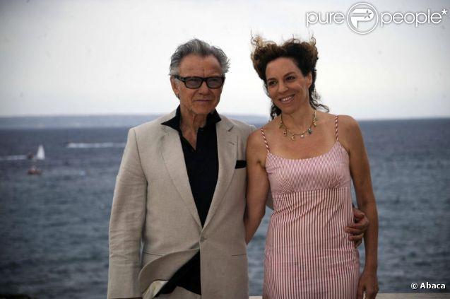Harvey Keitel et sa femme l'actrice et productrice Daphne Kastner à Palma de Majorque le 24 juillet 2011