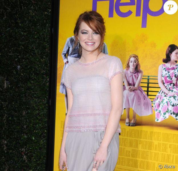 Emma Stone lors de l'avant-première du film La couleur des sentiments à Los Angeles. Le 9 août 2011