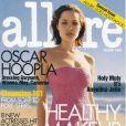 Mars 99 : après deux succès au cinéma (George Wallace et Gia), Angelina Jolie accède à un autre statut. Couverture du magazine Allure.