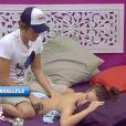 Geoffrey a offert de nombreux massage à Juliette dans la maison parallèle (quotidienne du samedi 13 août 2011).