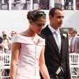 Charlotte Casiraghi et Alex Dellal lors du mariage d'Albert de Monaco, le 2 juillet 2011.