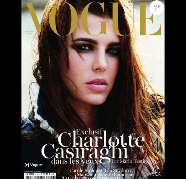 Charlotte Casiraghi en couverture de Vogue