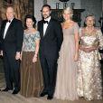 21 février 2007, dîner des 70 ans du roi Harald.   Le 25 août 2011, le prince héritier Haakon de Norvège et la princesse  Mette-Marit doivent célébrer leurs noces d'étain : 10 années d'un  mariage et d'un amour parfaitement sereins, après des débuts  controversés...