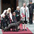Fête nationale du 17 mai 2011.   25 août 2001 - 25 août 2011 : 10 ans de mariage pour le prince héritier Haakon de Norvège et la princesse Mette-Marit...