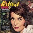 Voici la première couverture de l'actrice Catherine Deneuve : à 17 ans, pour le magazine Festival. Janvier 1961.