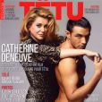 Voici une Catherine Deneuve en charmante compagnie pour la couverture du magazine  TÊTU . Novembre 2010.