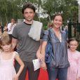 Emmanuelle Boidron, son époux Antoine, et leurs fille Leïa. En juin 2008