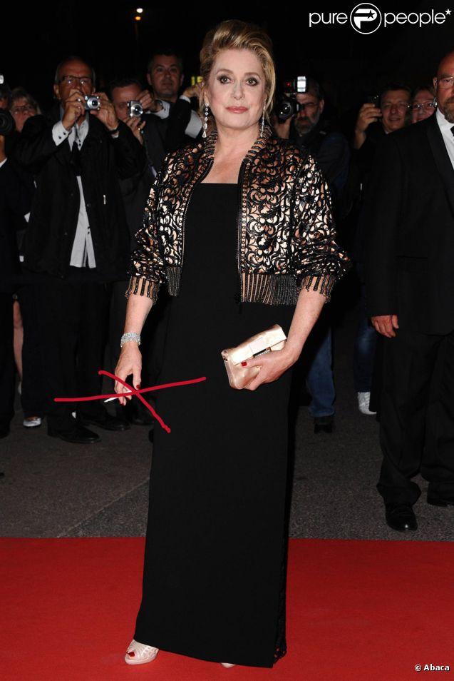 Catherine Deneuve à Cannes le 22 mai 2011