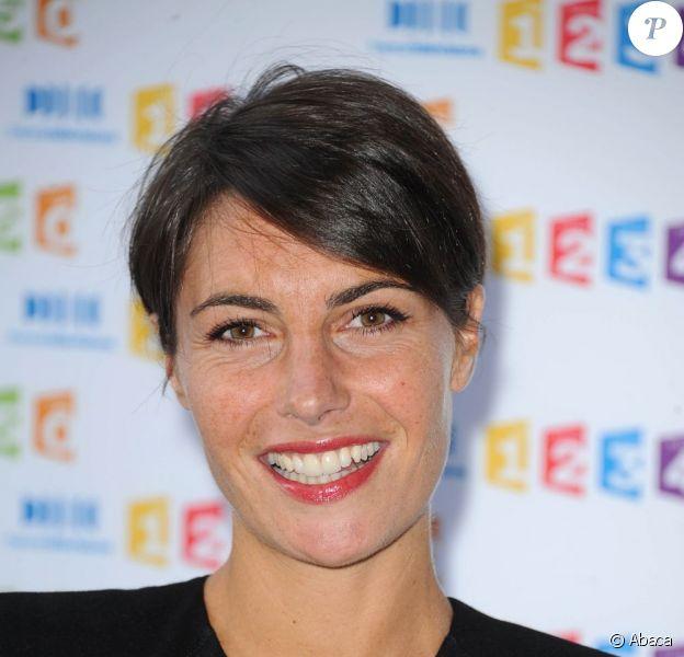 Alessandra Sublet lors de la conférence de presse annuelle de France Télévisions le 31 août 2011 à Paris