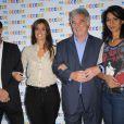 Laurent Bignolas, Tania Young, Georges Pernoud et Sabine Quindou lors de la conférence de presse annuelle de France Télévisions à Paris le 31 août 2011