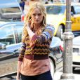 Kaylee Defer sur le tournage de Gossip Girl le 1er septembre 2011 à New York