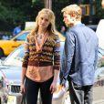 Kaylee Defer et Chace Crawford sur le tournage de Gossip Girl le 1er septembre 2011 à New York