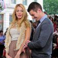 Blake Lively et un de ses partennaires sur le tournage de Gossip Girl le 1er septembre 2011 à New York