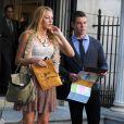 Blake Lively et un de ses partennaires sur le tournage de Gossip Girl à New York le 1er septembre 2011