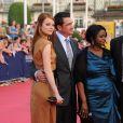 Emma Stone et le réalisateur Tate Taylor pour l'ouverture du 37e festival du film américain de Deauville, le 2 septembre 2011.