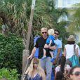 Boris Becker avait réuni toute sa famille pour célébrer les 12 ans de son fils Elias à Miami le 4 septembre 2011 qu'il a eu avec son ex-femme Barbara Fulton, également présente.