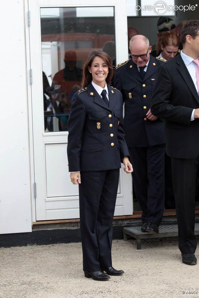 Marie Cavallier, épouse de Joachim de Danemark, visite le service d'urgence du pays. 3 septembre 2011
