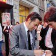 Laurent Gerra lors du concert de Charles Aznavour à l'Olympia à Paris le 7 septembre 2011 à Paris