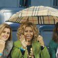 Aretha Franklin, la reine de la soul toujours aussi fringante était à Flushing Meadows, sous la pluie, pour assister au match Jo-Wilfried Tsonga - Roger Federer lors de l'US Open 2011