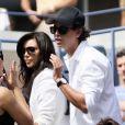 Kim Kardashian a assisté à la victoire de sa compatriote Serena Williams le 8 septembre 2011 lors du quart de finale de l'US Open 2011 en compagnie de son ami Jonathan Cheban