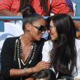 Lala Anthony et Kim Kardashian ont assisté à la victoire de leur compatriote Serena Williams le 8 septembre 2011 lors du quart de finale de l'US Open 2011