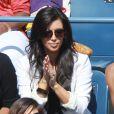 Kim Kardashian a assisté à la victoire de sa compatriote Serena Williams le 8 septembre 2011 lors du quart de finale de l'US Open 2011