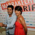 Jamel Debbouze et Florence Foresti lors de la conférence de presse du Marrakech du rire le 9 juin 2011