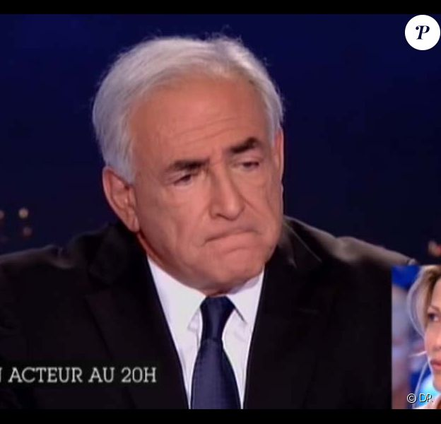 Tristane Banon revisionne les passages importants de l'interview de Dominique Strauss-Kahn (sur TF1), sur le plateau du Grand journal de Canal+, le 19 septembre 2011.