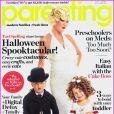 Tori Spelling pose avec ses enfants Liam et Stella en Une du numéro d'octobre 2011 du magazine Parenting