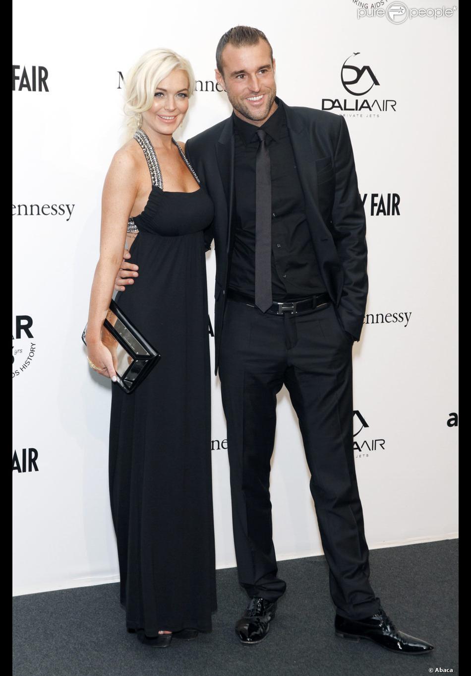 Lindsay Lohan et Philipp Plein lors de la soirée de l ...