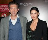 Vincent Cassel et Monica Bellucci lors de la projection de The Artist, le 28 septembre 2011.