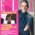 Grand sondage sur Anne Sinclair dans le magazine  ELLE , en kiosques le 30 septembre 2011.
