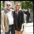 Didier Barbelivien et Laure, à Paris, le 14 juillet 2009.