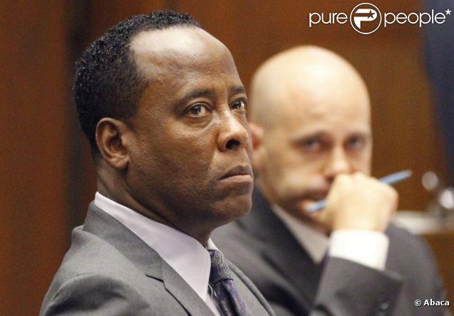 Procès du docteur Conrad Murray accusé d'homicide involontaire sur Michael Jackson à Los Angeles le 3 octobre 2011 - ici Conrad Murray