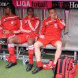 Breno, Edson Braafheid et Franck Ribéry, le 19 septembre 2009 à Munich