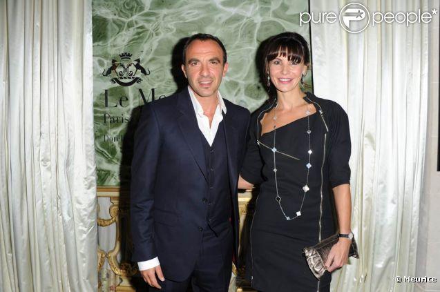 Nikos Aliagas et Anne Vogt-Bordure lors de la quatrième édition du Prix Meurice pour l'art contemporain, le 10 octobre 2011.